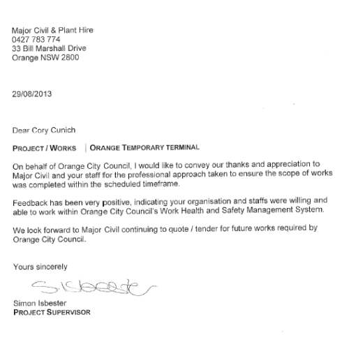 Orange City Council Testimonial